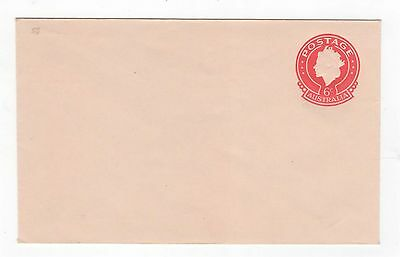 1970 ENVELOPE QEII SMALL (25MM) 6c RED ON BROWN-BUFF STOCK~  #200103