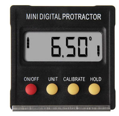 Mini Digital Angle Gauge Meter Protractor Bevel Box Inclinometer 4X90°  SRPB-120
