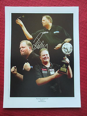 RAYMOND VAN BARNEVELD BARNEY RVB SIGNED 12x16 PHOTO 5x WORLD CHAMPION- PROOF COA