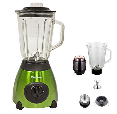 Green 500w  Electric Multi Food Blender With Grinder Smoothie Processor Gift