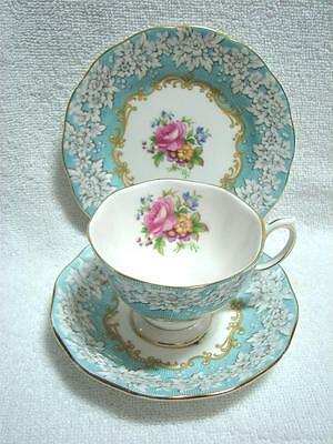 VINTAGE Royal Albert ENCHANTMENT bone china Trio Cup saucer plate