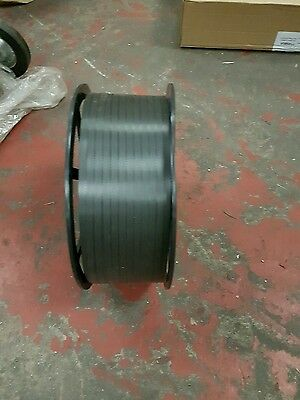 Packing strapping band roll, black, 1500m x 12mm polypropyline