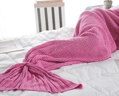 Ariel's Cozy Knitted Mermaid Tail Throw Blanket
