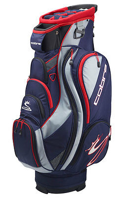 Cobra TEC F6 Cartbag / Golfbag navy red Puma Golftasche