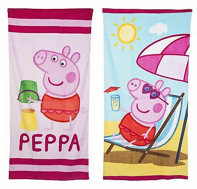 New & Official Peppa Pig Towel Beach Bath Childs - 2 Great Designs 70cm x 140cm