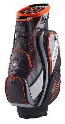 Cobra TEC F6 Cartbag / Golfbag gray orange Puma Golftasche