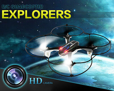 M9916 UFO 0.3MP HD Camera 2.4GHz 6-Axis Gyro RC Quadcopter Drone LED Helicopter