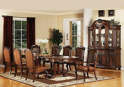 Acme Brown Remington 60030 Dining Room Set Wood Classic 9pcs