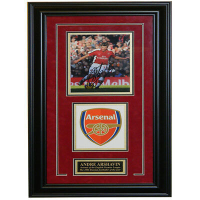 """Andre Arshavin Autographed 8""""x10"""" Framed"""