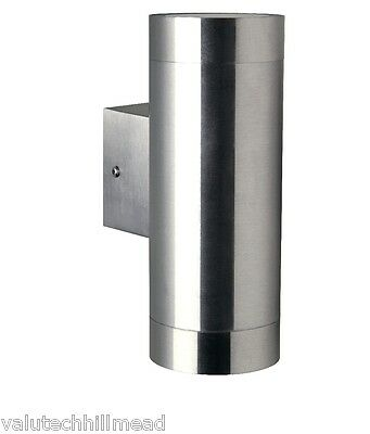 Nordlux Tin 2 Light Outdoor Sconce, Finish: Stainless Steel
