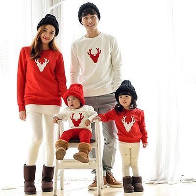 Family Matching Tops Mother Father Dad Mom Baby Kid Long Sleeve Pullover T Shirt