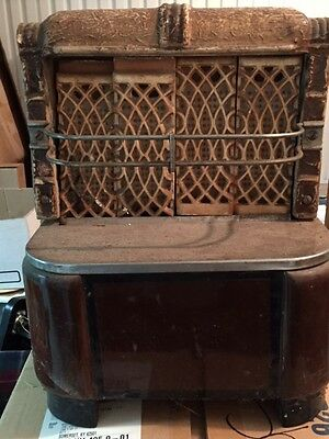 Antique Armstrong brand fireplace gas heater insert