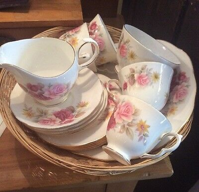 Queen Anne Bone China Teaset For 4