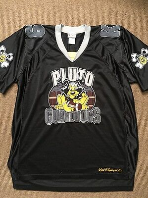 Walt Disney World Embroidered Pluto Guarddogs K-9 Football Jersey Adult XL