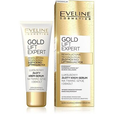 6072f1f4a3e Eveline Cosmetics Gold Lift Expert Gold Cream Serum Face, Neck And  Decolletage