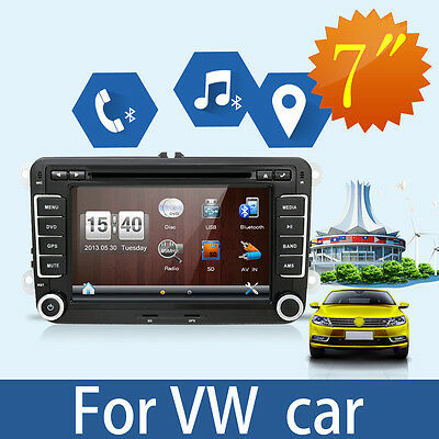 """For VW Jetta Passat Golf 7"""" HD Touch Screen Car Stereo GPS DVD Player Radio SD"""