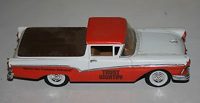 TRUST WORTHY HARDWARE STORES DIE CAST 1/25th SCALE 1957 FORD RANCHERO COIN BANK
