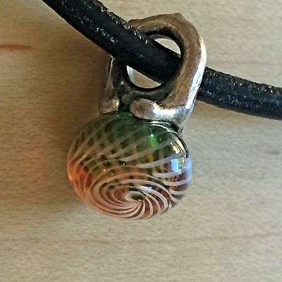 Genuine Trollbeads 'Autumn' Pendant Glass And Sterling Silver 61720