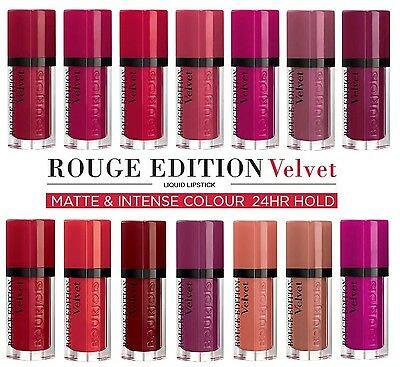 LIQUID MATTE LIPSTICKS - Bourjois Rouge Edition Velvet, REVLON, AURA  -BRAND NEW