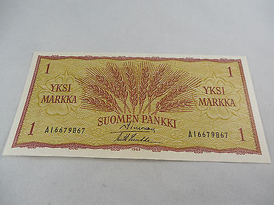 Uncirculated 1963 1 Markka Note From Finland