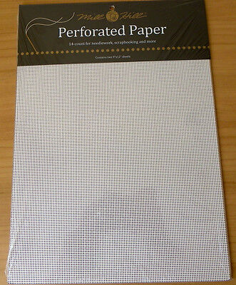 Mill Hill Perforated paper 14 count 2 sheets 9 x 12 inch white