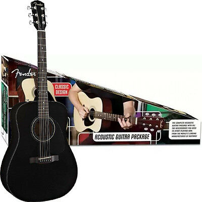Fender CD-60 Acoustic Guitar Pack in Black