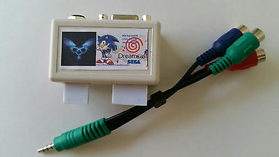 ES- PHONECASEONLINE Dreamcast DC SD Card Adapter with VGA AV Audio output 3 in 1