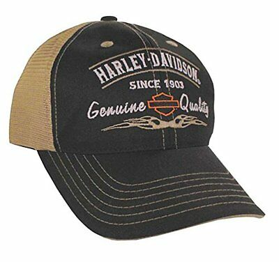 Harley-Davidson Mens Embroidered Cap. BCD16212, Black