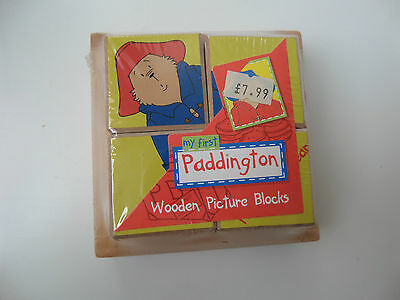 My First Paddington Bear Wooden Picture Blocks - Activity Building Puzzle Toy