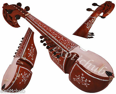 Rabab~Rubab~Rebab~Robab~Design Tun Wood~Handicraft Flower Work On Both Side~