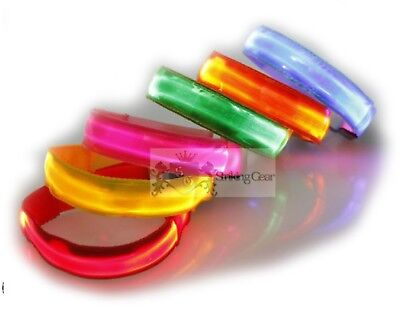 Led Flashing Light Up Reflective Colourful Arm Band Running Cycling  *6 Colours*
