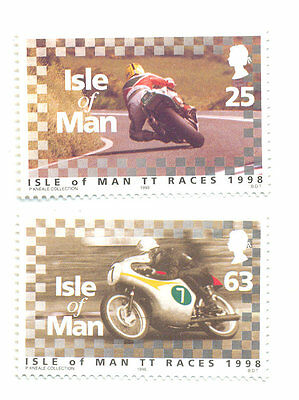 Motorcycles-Joey Dunlop-Mike Hailwood mnh 2 stamps TT races-Motorbikes