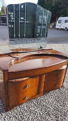 Mid Century Mirror Top Dressing Chest
