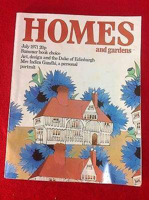 Vintage Magazine : HOMES and GARDENS : July 1971