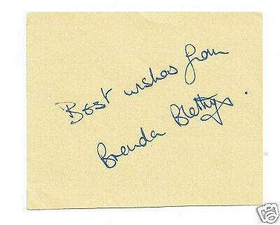 Brenda Blethyn Little Voice Actress Hand signed paper 4 x 3