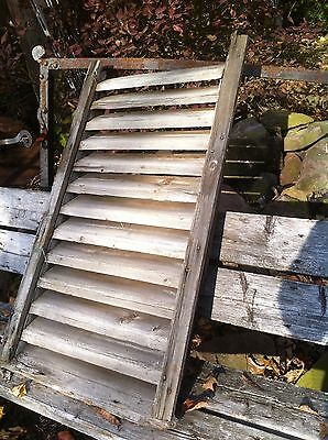 "Primitive 1800's shabby 38in x 21in x 3in "" wood attic air vent barn shed lot #2"