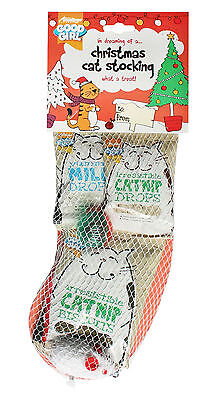Armitage Christmas Xmas Cat Stocking with Catnip Treats and Toys for Cats