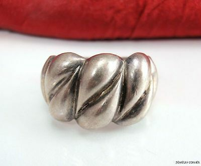 Vintage Sterling Silver Twisted Dough Design Ring