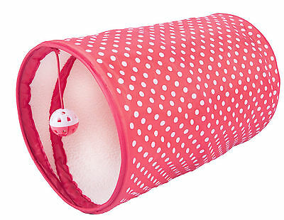 Armitage Christmas Xmas Polka Dot Cat Tunnel for Cats 13.75""