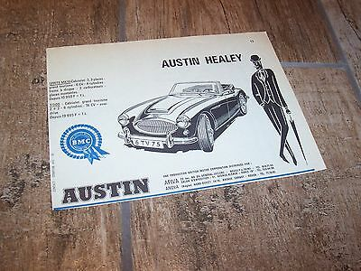 AUSTIN HEALEY 1965 Publicité magazine / Original French  AD //