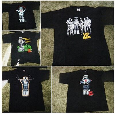 5 Lot Vintage LOST IN SPACE T-SHIRTS Space Productions,  Previously Worn