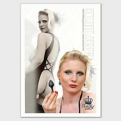 Casey Deluxe Autogramm Card / Signed Autograph 03 - Buttplug Dream Girl