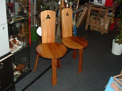REYNOLDS OF LUDLOW..PAIR OF MID CENTUARY  1950s 60s PINE ? DINNING / CHAIRS HALL