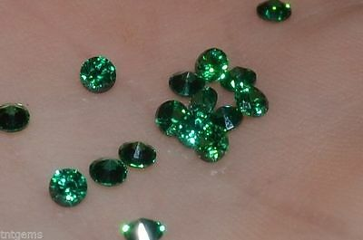 ***Flawless***3mm IF Brilliant Cut Simulated Green Diamonds