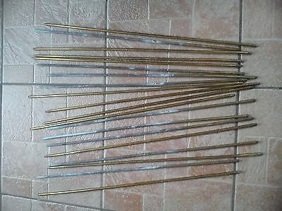 Twenty Brass Stair Rods Used