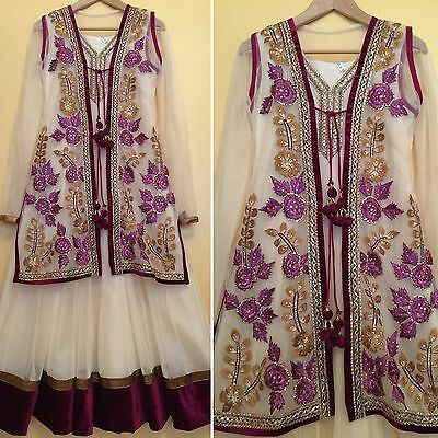 Readymade Asian,Indian,Pakistan,Jacket Suit.UK SIZE 10 (bust size-38,length-53)
