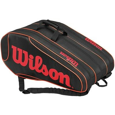 Wilson Burn Team Tennis Squash 12 Racket Bag