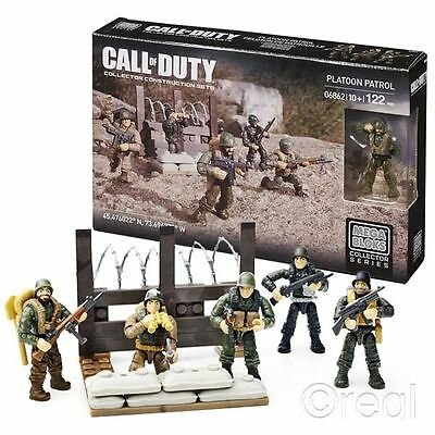 New Call Of Duty Platoon Patrol Construction Set & Figures Mega Bloks Official