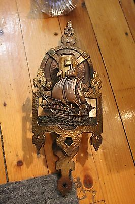 Antique Wall Sconce Art Déco Candle Style Tudor Arts And Craft Ship Lincoln Boat