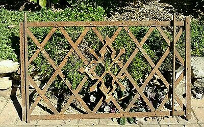 Antique Wrought Iron Window Guard Wall Art Garden Trellis Architectural Salvage